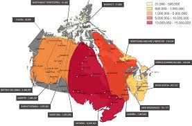 Map Of Canada With Provinces by Canada Mapped By Population Immigroup We Are Immigration Law