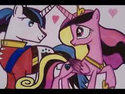 coloring book fun my little pony princess cadence and her husband