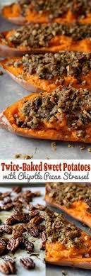 baked sweet potato yam recipe with chipotle pecan streusel
