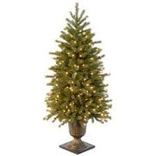 4 ft feel real frosted artic spruce pine pre lit medium entrance
