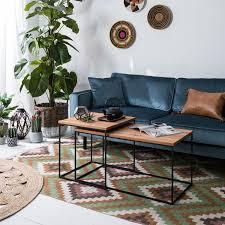 Wohnzimmertisch Kirschholz Couchtisch Minneola 2 Teilig Eiche Beistelltisch Couch Tisch