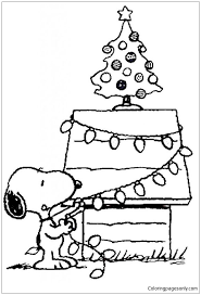 snoopy tree snoopys christmas tree coloring page free coloring pages online