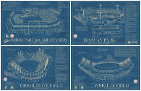Blueprints by Ballpark Blueprints Are A Homerun For Baseball Fans 6sqft
