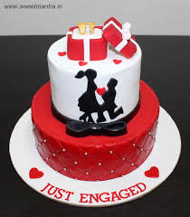 engagement cakes engagement ring ceremony theme 2 layer customized designer