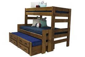 Bunk Beds With Trundle The Young Pioneer Twin Full And Trundle Bunk Bed With Storage
