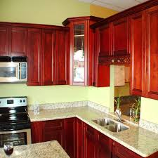 amazing red cherry cabinets kitchen