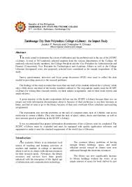 Electronic Thesis And Dissertation In Library And Information Science Zamboanga City State Polytechnic College E Library An Impact Study