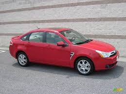 2008 vermillion red ford focus ses sedan 15581973 gtcarlot com