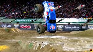 monster truck video for first ever monster truck front flip pulled off by mad scientist