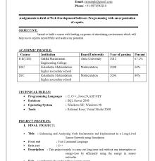Sql Resume For Freshers Download Resume For Freshers Haadyaooverbayresort Com