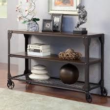 Honey Oak Bookcase Oak Console U0026 Sofa Tables You U0027ll Love Wayfair