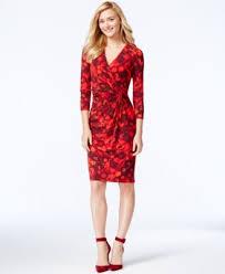 anne klein floral print wrap dress dresses women macy u0027s