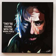 walking dead rick grimes canvas quote wall decals photo painting