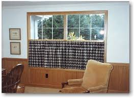 Cafe Style Curtains Living Room Blind Alley Casual Window Treatments Portfolio Cafe