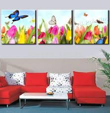 canvas painting pictures butterfly flower oil painting home