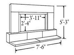 Standard Fireplace Dimensions by Tri Stone Fireplace Surrounds