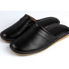 Leather Bedroom Slippers Men U0027s Slippers Ebay