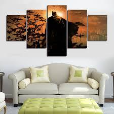 batman home decor 5pcs batman movie poster unframed wall art canvas painting home
