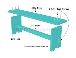 Plans For Building A Wooden Bench by Simple Plans For A Diy Board Bench
