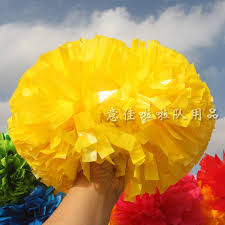 Yellow Pom Pom Flowers - compare prices on yellow cheerleading pom poms online shopping