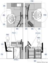 profondeur bureau bureau ergonomique sur mesure