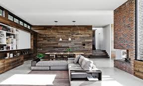 modern open floor plan mixing surfaces open floor chaise sofa