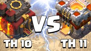 apk game coc mod th 11 offline town hall 10 vs town hall 11 clash of clans clan wars youtube