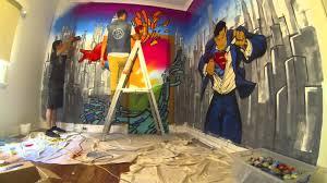 handbrake graffiti time lapse superhero wall 02 youtube