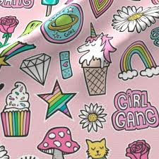 Hearts And Stars Kitchen Collection Patches Stickers 90 U0027s Doodle Unicorn Ice Cream Rainbow Hearts