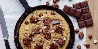 poele à cuisiner cookies à la poêle recette du cookie chocolat noisette
