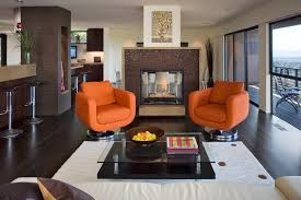 Swivel Chairs Living Room Furniture Fireplace Modern Living Room Furniture With Orange Armchairs Or
