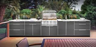 Newage Products Stainless Steel Classic 5 Piece 160x36x24 In by Outdoor Kitchen Cabinet Materials Marine Plastic Innovations Inc