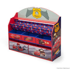 disney themed toddler bedroom with cool cars book u0026 toy organizer