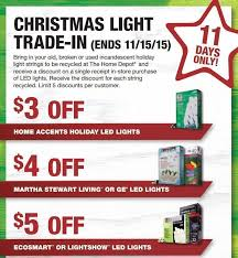 home depot christmas lights coupon home depot christmas light trade in through 11 15