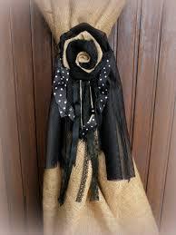 shabby chic burlap curtains rare tie back jute durdor