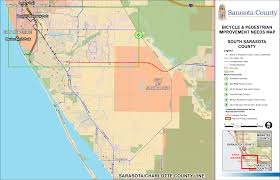 sarasota county zoning map figure 3 7 bicycle and pedestrian improvement needs map south