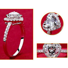 fashion wedding rings images Fashion jewelry ring heart shape crystal wedding rings for women jpg