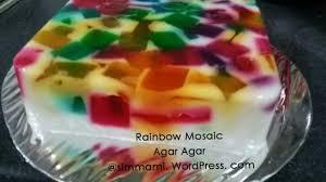 rainbow mosaic agar agar