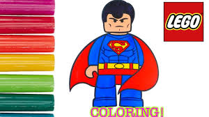lego superman coloring page for kids fun speed coloring activity