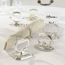 table top place card holders blenheim napkin ring and placecard holder set of 6 kitchen