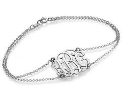 monogram initial bracelet monogrammed bracelet etsy