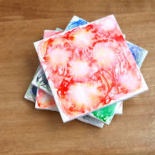 Homemade Coasters Diy These Dreamy Watercolor Tile Coasters Tile Coasters
