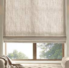 Roman Curtains Textured Belgian Linen Shades Restoration Hardware Fenster