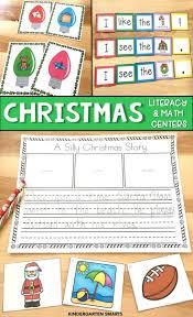christmas math and literacy centers the bundle literacy math