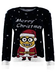 childrens boys dave minion jumper 5 12 years