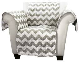 Printed Fabric Armchairs Chevron Furniture Protectors Gray And White Armchair Armchairs