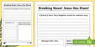 news report template easter story newspaper writing template cfe easter easter