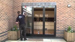 Wooden Bifold Patio Doors by Bifold Doors Full Installation Youtube