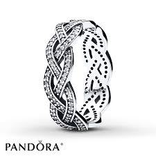 braided ring jared pandora braided ring clear cz sterling silver