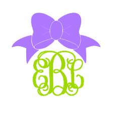 bow monogram bow monogram vinyl decal various sizes and colors dixieland monogram